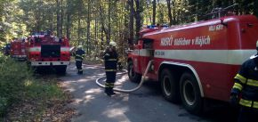 Cvičení hasičů