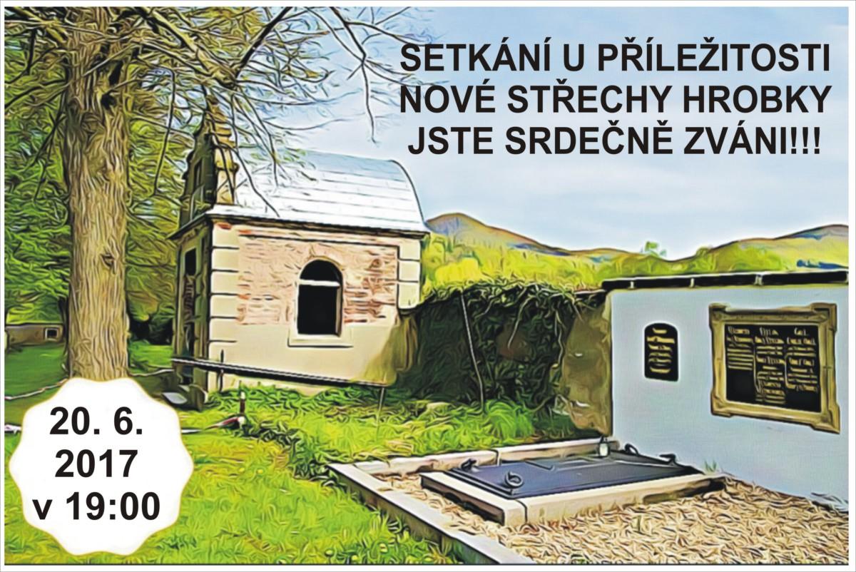 Setkání u příležitosti nové střechy na hrobce