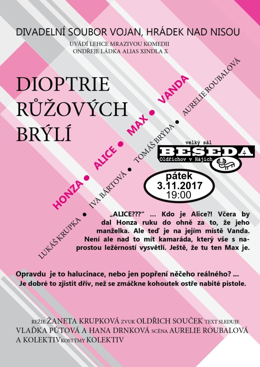 Dioptrie růžových brýlí
