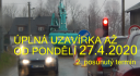 Úplná uzavírka náves – Filipka až od 27.4.2020