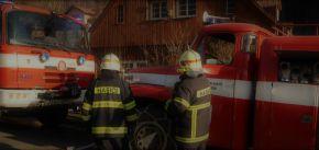Požár domu ve Filipce