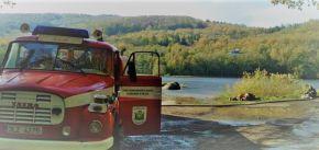 Požár lesa v NPR Jizerskohorské bučiny