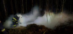 Požár lesa pod Špičákem