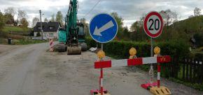 Rekonstrukce silnice a stavba chodníku