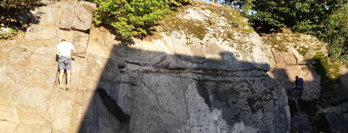 Cvičná horolezecká stěna